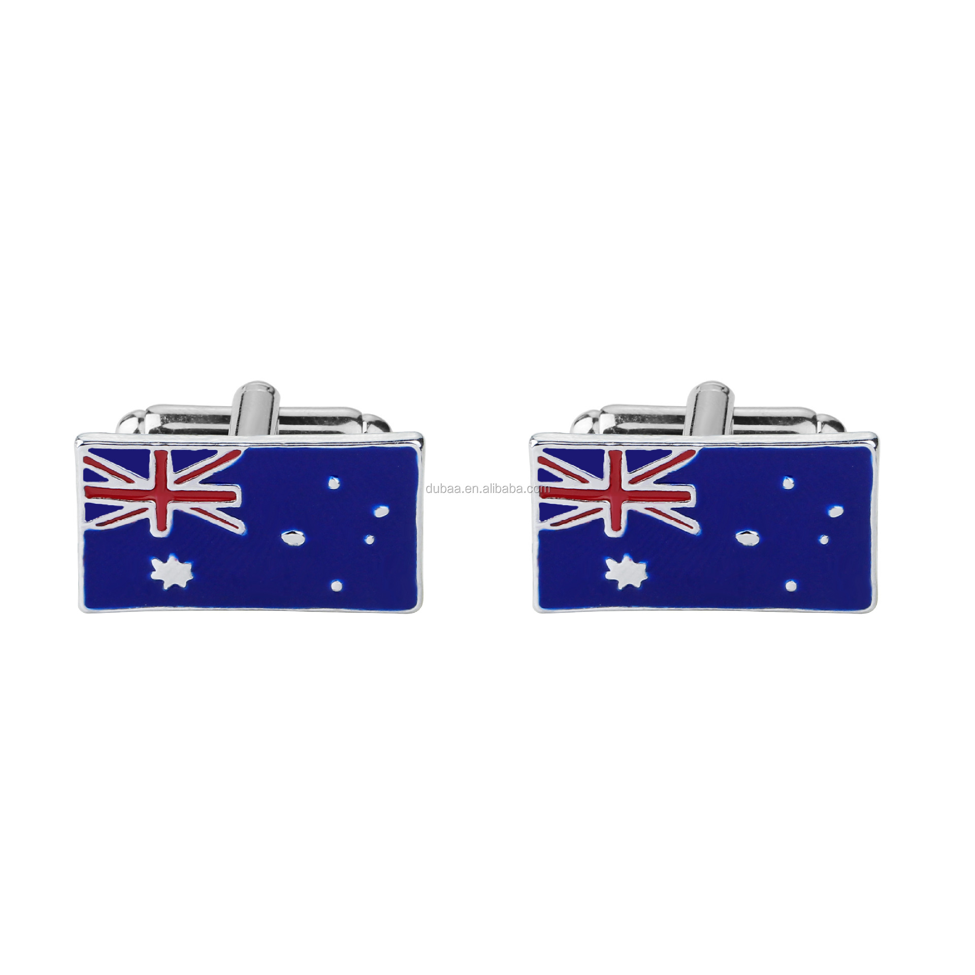 Men's Novelty Cufflinks - Australian Flag Design Executive Cufflinks Unique Cuff Links