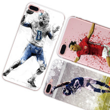 Customzie OEM UV printing NBA football Sports Player pattern clear soft tpu phone case cover for iphone 6 7 plus