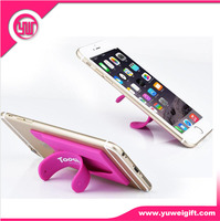Easy to use phone holder printed logo silicone phone holder handy with 3m adhesive sticker