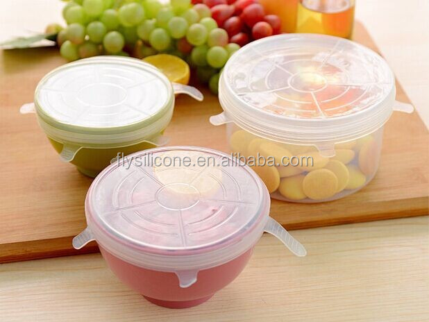 Amazon Hot Selling Set of 6 pieces silicone cup lid cover for kids