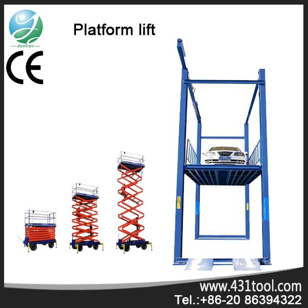 Portable and good quality electric motorcycl aerial work scissor lift platform