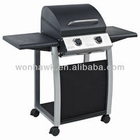 Outdoor Small Portable Barbecue Grill With 2 Burners With Best Price