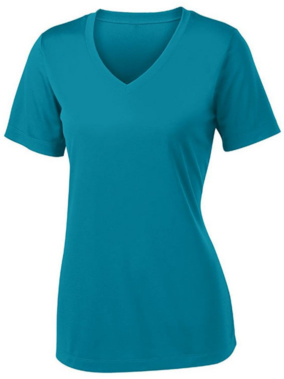 cheap plain v neck t shirts 100% polyester wholesale Short Sleeve Hollow Out T-shirt