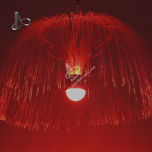 Customized Fiber Jellyfish Chandelier Fiber Optic Light for Holiday Decoration