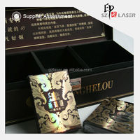 Laser plastic silver pet film thermoforming for cigarette box