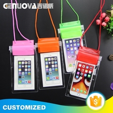 New arrival fashion colored design waterproof mobile phone pouch
