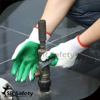 SRSAFETY construction latex palm coated gloves protection