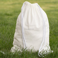 Cotton Drawstring Bag Backpack Sack Made of Cotton in Natural White