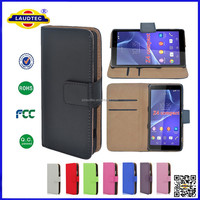 Wallet Leather Case for Sony Xperia Z4 Compact, Mobile Phone Cases Mobile Bags for Sony Xperia Z4 Compact Laudtec