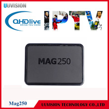 One Year 2400+ IPTV Subscription Mag250 Smart IPTV Set Top Box Linux Operating System Decoder Support USB Wifi M3U with STi7105