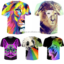 2017 t shirt custom printed 3d sublimation printing man tshirt
