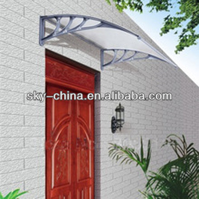 Outdoor Polycarbonate waterproof Metal Frame Window Canopy