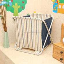 New Arrival Cotton Linen Folding Novelty Laundry Storage Basket