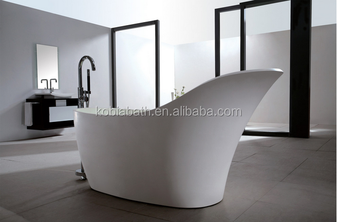 K-C19 Larger bathrooms special design resin stone bathtub for relaxing soak