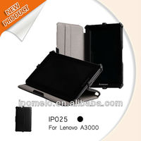 Multiple Stand Heat Setting Leather Case For Lenovo A3000 Tablet Sleeve