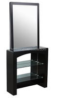 2015 European New Hair salon mirror stations for sale/Cheap polywood styling mirror in stock