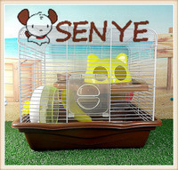 Large new hamster cage steller hamster cage large luxury mute hamster cage running wheel