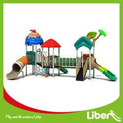 Customize Design Children Outdoor&Indoor Garden Playground equipments with slide