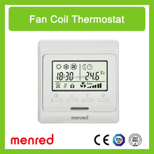 Menred E51 air conditioning digital LCD Weekly Programming the fan coil room thermostat