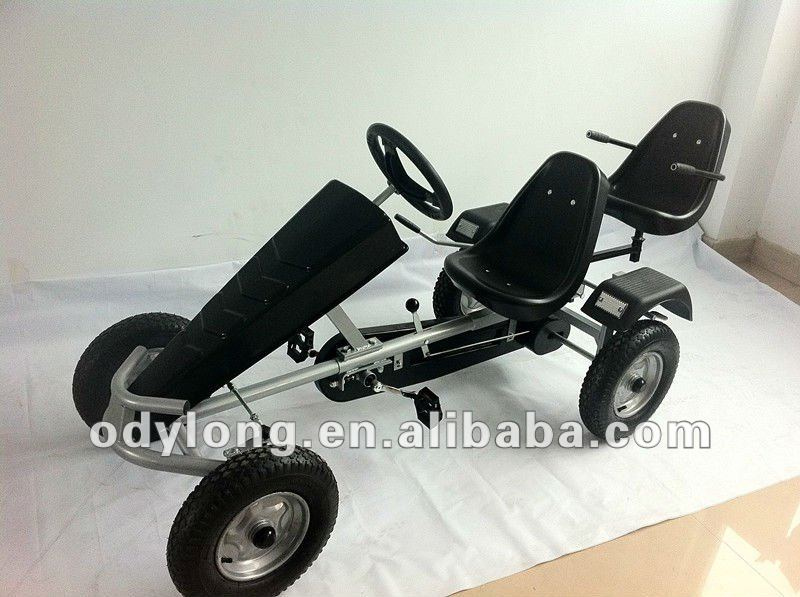 Safety rc go kart for adult and kids,reverse gear and handbreak to ensure safety.