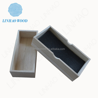 fsc wooden storage box with lid/wooden compartment box with clear lid