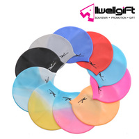 hot selling waterproof sports colorful pattern silicone swimming hat cap