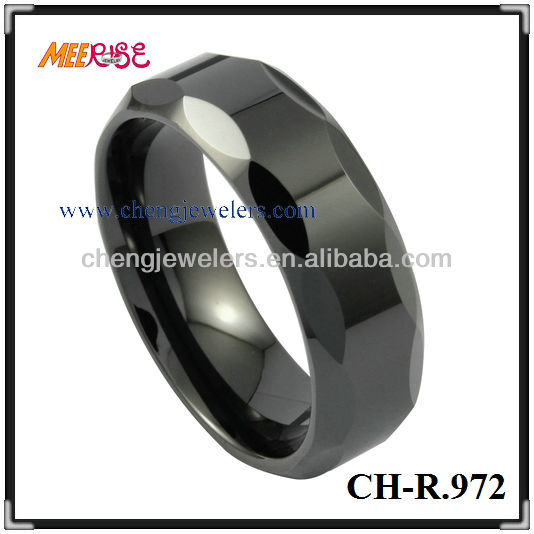 Hot Selling 8MM Black Plated Tungsten Carbide Cool Ring ,Engagement&Wedding Ring,Free Sample