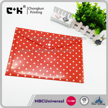 Cute Dot 4C Printing Promotional Office Stationery Snap File Folder