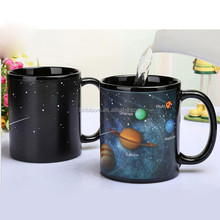 star national flag hot sensitive temperature color changing magic ceramic mug