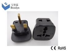 Universal 2 in 1 Plug Adapter with safety shutter for Hongkong, England, U.A.E., Singapore, Malaysia
