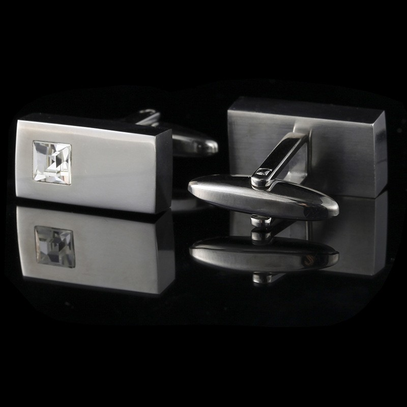 Hot Silver Cufflinks Mens Wedding Party <strong>Gift</strong> Shirt Crystal Cuff Links