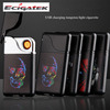 Creative personality gravity induction cigarette lighter USB rechargeable electronic flameless lighter shake the ignition