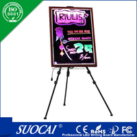 Wall transparent display led writing sign board for advertising