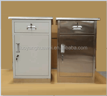 Modern cheap hospital bedside cupboard practical ward storage cabinet filing cabinet