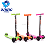 wholesale 4 wheels 120mm new custom scooter wheels with LED light kick kids scooter for sale