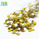 Manufacturer Supply Non Hot Fix Resin Flat Back Stone For Nail Art Decoration Beauty, D055 Citrine