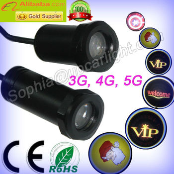 hotest sale led car logo door light ghost light use USA CREE chip 3W The most clear and bright and waterproof