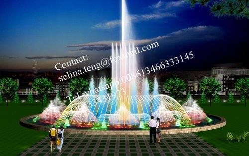 china made hot sale dancing outdoor water fountain