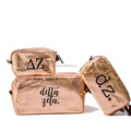 Custom printing washable Kraft Paper Cosmetic Make Up Bag