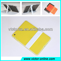 for ipad mini 2 hard rubber shell,yellow color