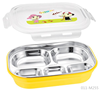 FDA stainless steel rectangle kids lunch box thermal food storage lunch box with spoon lock