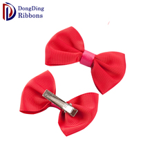 Wholesale custom fashion kids <strong>hair</strong> <strong>accessories</strong> ,make grosgrain ribbon <strong>hair</strong> bow with clips