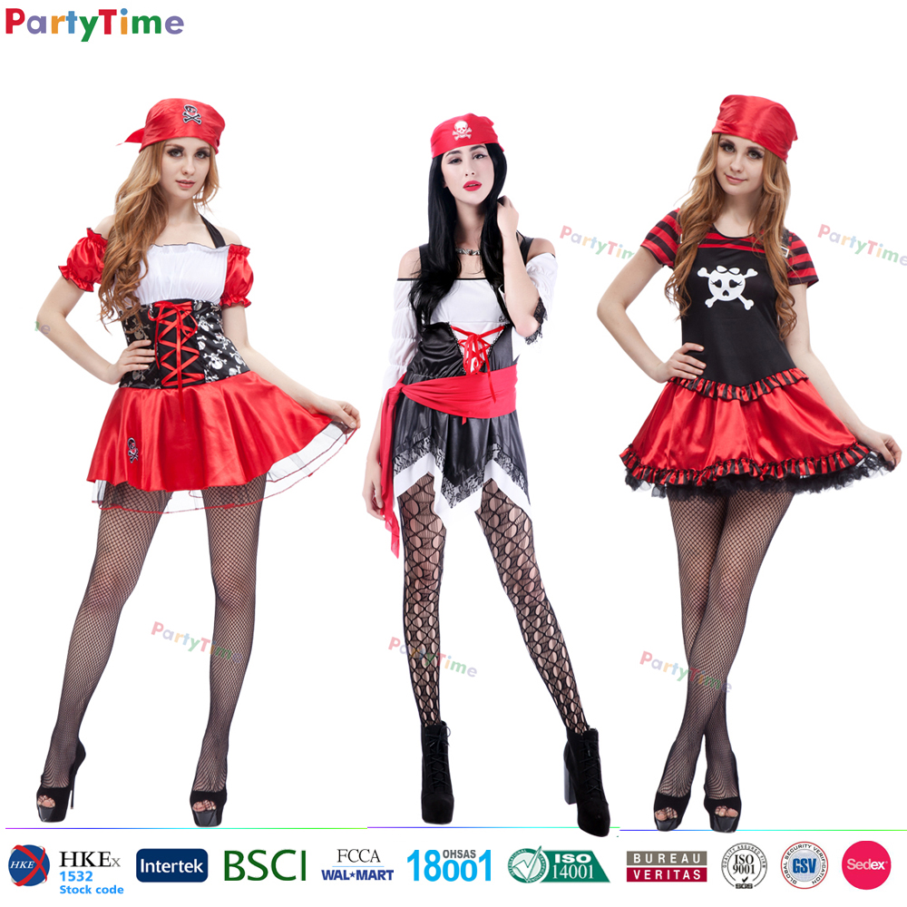Yiwu Party Time women sexy cosplay dresses cheap halloween costumes sexy adult pirate costume