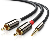 3.5mm to twin RCA Audio Auxiliary Stereo Y Splitter Cable
