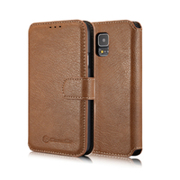 CaseMe Genuine Leather Wallet Case For Samsung Galaxy S5 i9600