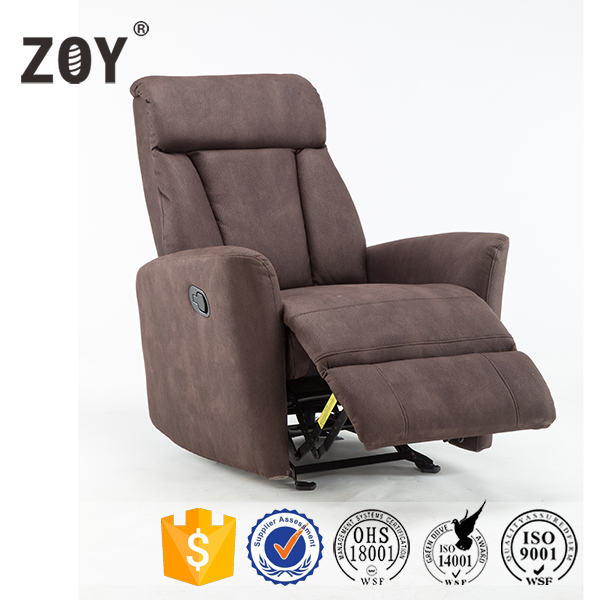 High Quality Fabric Recliner Glider  Rocking  Swivel Sofa Chair ZOY R6008A51