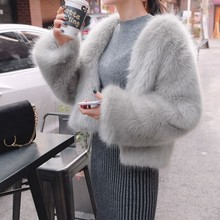Wholesale Fashion Style High Quality Faux Fox Fur Coat For Ladies