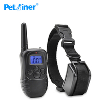 Petrainer 998DR-1BL rechargeable remote dog training collar rang up to 300m