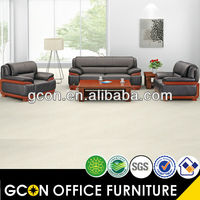 3 seating leather office sectional sofa GCON sofa GS9825