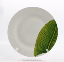 Eco-friendly cheap plain white ceramic plate